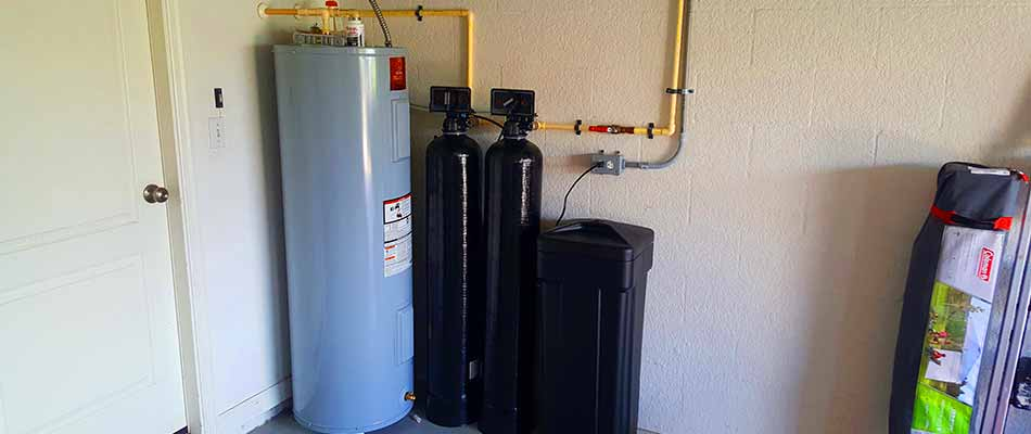 Water heater and filtration system installed in the home of a resident in Riverview.